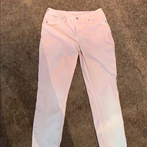 Maurices Faded Skinny Pink Jeans M-R Stretchy